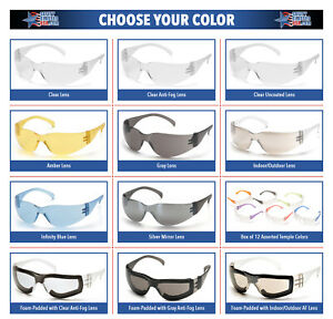 144 Pair Pyramex Intruder Safety Glasses Ansi Z87 Compliant You Pick Color