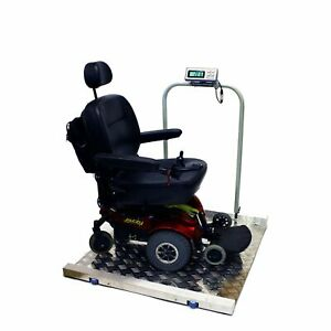 Tree Scales Portable Large Digital Wheelchair And Drum Scale 800 Lbs X 0 2 Lbs