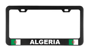 Algeria Flag Country American Flags Foreig License Plate Frame Tag Holder Bumper
