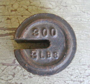 Antique Balance Cast Iron Scale Weight Stacking Counter Weight 3 Lbs