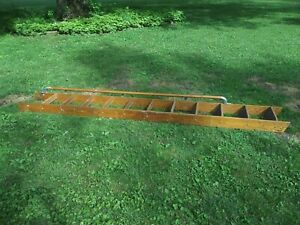 Vintage Putnam Rolling Oak Ladder Only Store Library No Harware Track 125