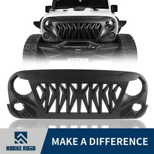 Hooke Road Black Abs Gladiato Shark Grille Grill For Jeep Wrangler Jk 07 2018