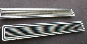 1966 Cadillac Rear Bumper Center Section Ribbed Inserts Pair