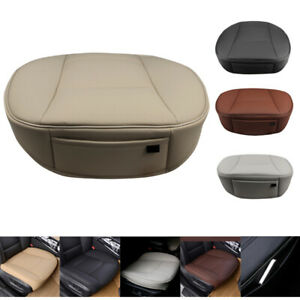 Deluxe Car Front Seat Cover Cushion Protector Mat Set 3d Pu Genuine Leather Feel