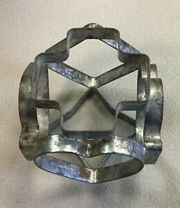Six Sided Cookie Cutter Metal Card Suits Vintage