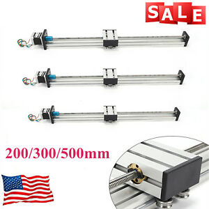 Cnc Linear Actuator Slide 200 500mm Rail Guide Sliding Guide Block Stepper Motor