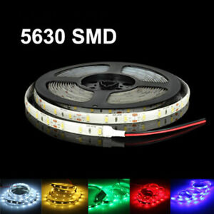 16ft 5630 Super Bright Waterproof 300 Led Strip Light Dc12v 6a With3m Tape Lamp Us