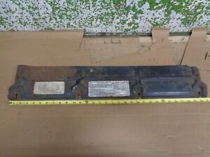 1973 Chevy Monte Carlo Radiator Metal Cover Mount Plate W sticker 454 Engine Oem