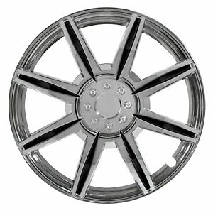 Jeep Wheel Cover 14 Inch 8 Spoke With Black Inserts Toyota Honda Plastic Hubcap