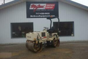 1996 Ingersoll Rand Dd24 Smooth Drum Roller 912 Hrs 44hp Diesel Vibratory Rops