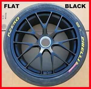 19 Oem Ferrari 458 Challenge Center Lock Wheels New Pirelli Tires Bbs Black Rims