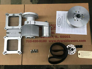 671 Big Block Chevy Dyer S Blower Drive Kit Satin New 6 71 With Carb Dual Top