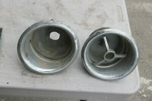 1949 1950 Lincoln Tail Light Tailight Housing Pair Br