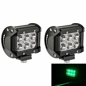 4 18w Cree Led Green Work Light Bar Spot Beam 30 Degree Waterproof