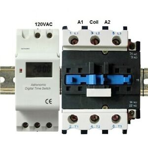 Astronomic Programmable Timer 30a 3 Pole Time Sw 120v 110v 40 Amp 40a 3 Phase