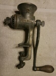 Antique Universal Food Chopper No 2 1899 Cast Iron Meat Grinder Vintage