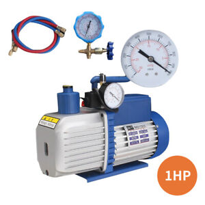 8cfm Vacuum Pump Two Stage Rotary Vane Hvac Air Conditioning Refrigeration