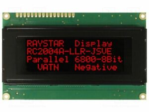 Display Lcd Alphanumeric Va Negative 20x4 Led Char 4 75mm Alphanumeric Screen