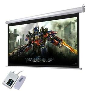 92 Electric Motorized Projector Screen Auto With Remote Control Home Theater