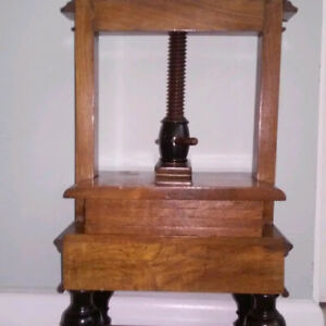 Antique Wood Dutch Linen Press Made From Solid Mahogany 21 X 7