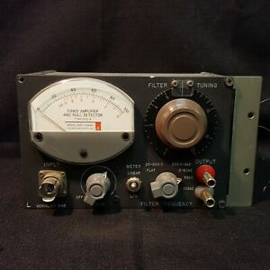 General Radio Company Type 1232 a Tuned Amplifier And Null Detector For Parts