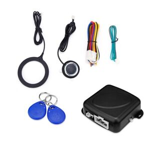 Car Anti Theft System Engine Push Start Button Stop Rfid Lock Ignition Switch