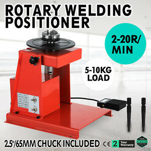 110v Rotary Welding Positioner Turntable Mini Red 2 20r min 20w Durable