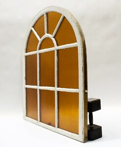 Antique Arched Dome Top Stained Glass Window Sash Shabby Chic 34 3 4 X 40