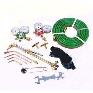 Gas Cutting Welding Kit With Hose Oxy Acetylene Oxygen Torch Brazing Fits Victor