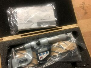 New Mitutoyo Digimatic 395 734 10 0 1 00005 0 001mm Digital Tube Micrometer