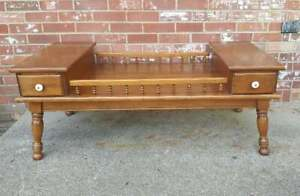 Vintage O Hearn Hard Rock Maple Coffee Table 2 Drawers Tiered Local Pickup Avail