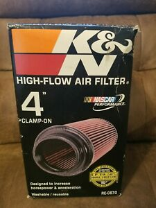 K n Universal Air Round Cone Intake Filter 4 Car Truck Suv 4 Inch New Re 0870