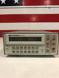 Hp Keysight 3478a Benchtop Digital Multimeter Works Well