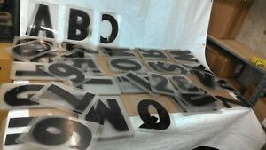 165 Set 12 Acrylic Wagner Zip change Marquee Sign Changeable Letters