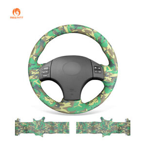 Diy Camouflage Pu Leather Car Steering Wheel Cover For Lexus Is250 Is300 Is350