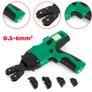 0 5 6mm Crimper Tool Crimping Pliers For Wire Cable Terminal 4x Spare Dies Us