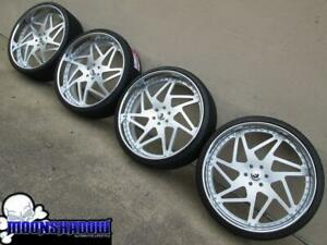 28 Forgiato Finestro Brushed Silver Wheels Rims Gm Chevy Tahoe Escalade Denali