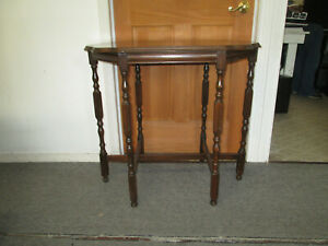 Vintage Antique Six Leg Sofa Entry Table 30 X 32 X 20