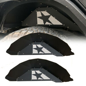 Solid Rear Steel Black Inner Fender Liners Kit For 2007 18 Jeep Wrangler Jk