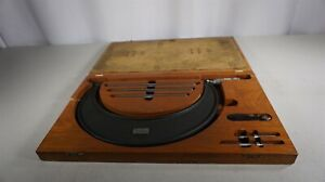 Lufkin Outside Micrometer 6 To 9 Model 849a In Vintage Fitted Wood Case