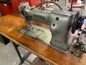Singer 111w155 Industrial Sewing Machine Model Single Walking Foot Table motor
