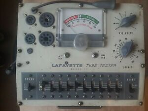 Lafayette Te 15 Radio Tube Tester With Manual
