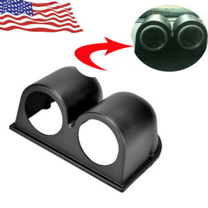2 Universal Dual Gauge Meter Holder Cup Dash Pillar Mount Pod Plastic Us Stock