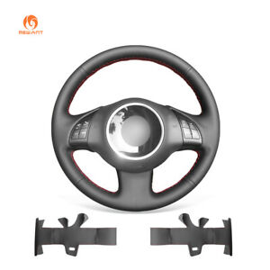 Black Artificial Leather Steering Wheel Cover For Fiat 500e 500c 2014 2017 500