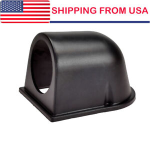 Universal 2 52mm Single Black Plastic Gauge Dash Mount Meter Pod Holder Car