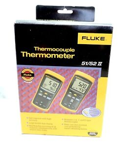 Fluke 51 Ii Digital Thermocouple Thermometer Genuine 674686 Fluke 51 2 60hz