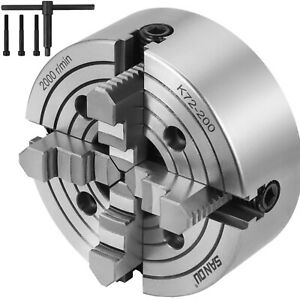 K72 200 8 4 Jaw Lathe Chuck Independent Milling Machine Reversible 8 Inch