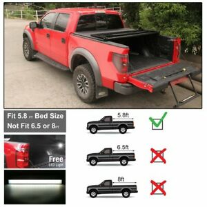 5 8 Bed Tri Fold Tonneau Cover Fits For 2009 2018 Dodge Ram 1500 Led
