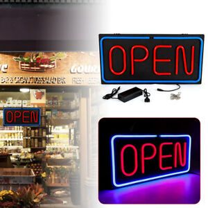 New Neon Open Sign 24x12 Inch Led Light 30w Horizontal 24x12inch Hotel Decorate