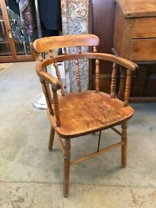 Antique Steam Molded Captains Chair